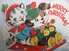Oh what fun!      Vintage Christmas card