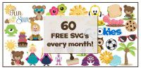 60 FREE SVG's every single month!