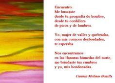Encuentro. Carmen Molinas Bonilla (Arre Molina Dos 2011, Ed Botella al Mar)