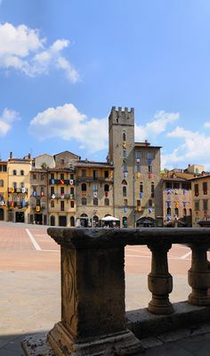 Piazza Grande - Arezzo, Tuscany, Italy - I can actually say I was just here!  It is truly beautiful!  :)