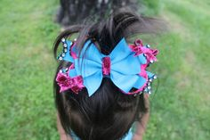 Two Tone Boutique Pinwheel Layered Hairbow with  by mLyCreations