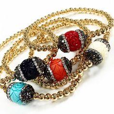 Bracelets By Vila Veloni Crystal Beads