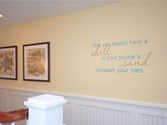 I just love this quote...so me!! Beach Wall Quote