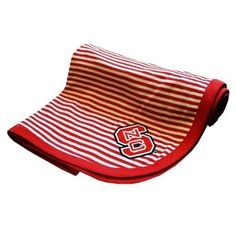 NC State Wolfpack Team Color Striped Baby Blanket