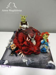 Shrek and friends - Cake by lucycrazzycakes
