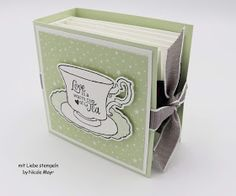 Diy Box, Stamping Up, Goodies, Christmas Gifts, Paper Crafts, Packaging, Album, Tea, Workshop