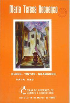 La conquense María Teresa Recuenco expone óleos, tintas y grabados en la Caja de Ahorros de Cuenca y Ciudad Real Marzo 1987 #CajaAhorrosCuenca #Cuenca #MariaTeresaRecuenco