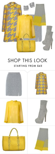 """#2 colors# office wear for fall"" by andrea-jones-4 ❤ liked on Polyvore featuring D.Exterior, Alice + Olivia, Erika Cavallini Semi-Couture, Sergio Rossi, Miss Pom Pom and Kate Spade"