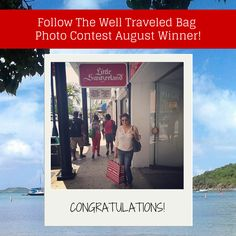 Congratulations to our Follow the Well Traveled Bag photo contest August winner!   We've started a new month, so don't forget to submit your photo with your #LittleSwitzerland shopping bag for your chance to be our September winner! One lucky winner will receive an Alex and Ani charm bangle! Good luck!