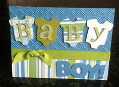 Using the cricut - Baby Showers Baby Girl Cards, New Baby Cards, Baby Scrapbook, Scrapbook Cards, Scrapbook Layouts, Cricut Baby Shower, Baby Announcement Cards, Cricut Cards, Kids Cards