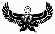 Anubis_Bastet_Egyptian_Tattoo_by_WildSpiritWolf.jpg (870×546)