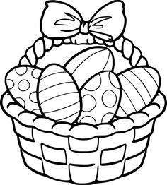 Easter Eggs and Basket Coloring Pages Easter Coloring Pages Printable, Easter Egg Coloring Pages, Easy Coloring Pages, Easter Printables, Easter Activities, Easter Crafts For Kids, Super Mario Coloring Pages, Toy Story Coloring Pages, Diy Ostern