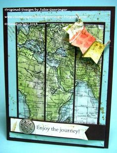 Stamps: World Map, Pedaling Past (both MDS versions) Paper: Whisper White, Early Espresso, Pool Party, Epic Day This and That DSP Paper Si...