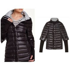 """Vince Camuto 100% Goose down jacket. Stand-up collar• Long sleeves with Thumbhole•   Front zip closure• Front zip closure• 2 Front zip pockets• Quilted detail construction• Includes Logo detailed bag• (30"""" Length)• shell:100% nylon with 95% Polyester, 5% Spandex• Fill:90% Down, 10% Feather. Vince Camuto Jackets & Coats Puffers"""