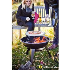 Making alfresco dining simple and easy, the Pizza Firepit is a multi-functional product, which enables users to benefit from both functionality and style. This product cooks pizzas using a wood fire and a pizza oven stone. Once the embers have died down and cooking has been completed,  this product can be used as a firepit to keep warm when the temperature dips.