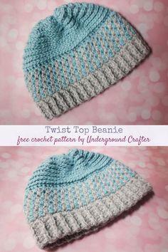 Crochet Beanie Pattern, Crochet Cap, Crochet Round, Free Crochet, Crochet Patterns, Crochet Gifts, Double Crochet, Single Crochet, Crochet Headbands