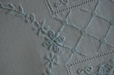 The Old Fashioned Baby Sewing Room: White Wednesday - Beautiful Tea Towel
