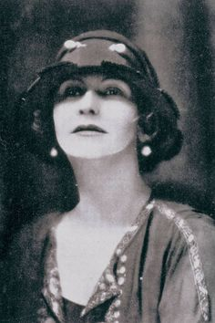 """Coco Chanel, 1923. Her """"LBD"""" soared in the 1920's. Prior to her designs, black had been designated for wear almost solely during periods of mourning."""