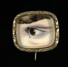 Eye ca. 1900 Unidentified watercolor on ivory sight x in. x cm) oval Smithsonian American Art Museum Gift of Henry D. Lovers Eyes, Lovers Art, Eye Jewelry, Jewlery, Mourning Jewelry, Eye Painting, The Secret History, Memento Mori, Chain Pendants