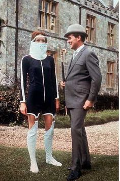 Emma Peel style - possibly a little overboard on the 60s fashion?