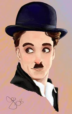 Trying some new things in Photoshop. Charlie Chaplin as he . Chaplin - The Gold Rush Charlie Chaplin, Desenho Pop Art, Charles Spencer Chaplin, Watercolor Painting Techniques, Celebrity Portraits, Gold Rush, Silent Film, Old Movies, Hollywood Stars