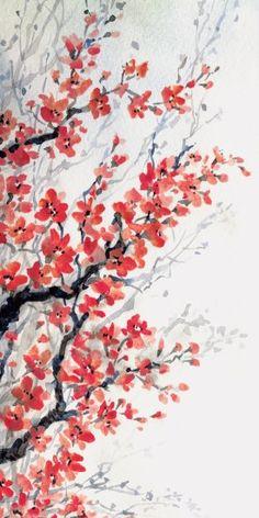 """Il """"Mandorlo in fiore"""". Un'esplosione di primavera sulle pareti. By Idea Home. [www.viadurini.it]"""