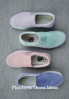 a0632ee85 hTrend Platform Shoe Pastel Vans