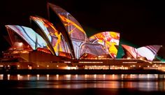 sydney, australia...take in the magic of the opera house at night and then take a stroll with pistachio gelato.