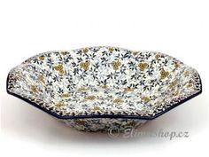 Bowl for fruits . Beautiful new design . This Traditional Handmade Polish Pottery bowl is from ELIMAshop.cz .  (34,5/7,5 cm) . It was handpainted in Boleslawiec  . Bunzlau . ceramics . stoneware . ovenproof baking dish ! ( mísa na ovoce 34,5/7,5 cm - ELIMAshop.cz )