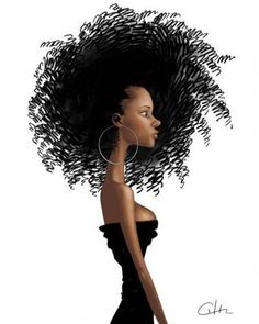 Natural Hair Art...I want this in my house!!!!