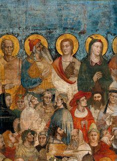 Nardo di Cione - Giudizio Universale: i giusti - affresco - 1350 - Cappella Strozzi di Mantova - Basilica di Santa Maria Novella, Firenze