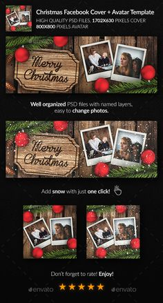 Merry Christmas, Christmas Flyer, Christmas And New Year, Xmas, Christmas Ornaments, Christmas Facebook Cover, Best Facebook, Facebook Timeline Covers, Cover Template