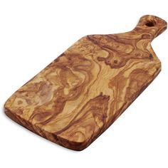 Italian Olivewood Slice Cheese Paddle ($60) ❤ liked on Polyvore featuring home, kitchen & dining, serveware, olive wood cheese board, sur la table and cheese serving board