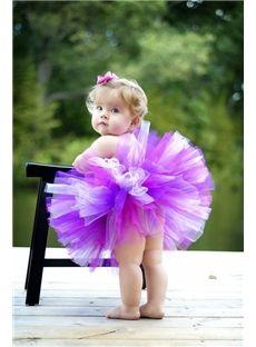 Gorgeous corto / mini imperio sin tirantes de color vestidos de flores niña