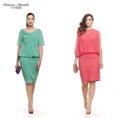 #AutAut... Un #Outfit sobrio ma #chic... questa la nostra proposta per un #weekend dal #look decisamente estivo! ... Voi quale indossereste, #acquamarina o #corallo ?#Sabato #moda #stile #abito #abitodacocktail #eleganza #dress #style #fashion #fashiocurvy #plussize #mysize #curve #women #colors #summer #2015