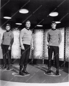 William Shatner Leonard Nimoy DeForrest Kelly in the transporter 1180-26