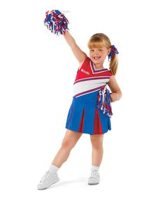 Take a look at this Red & Blue Junior Cheerleader Dress-Up Outfit - Toddler by Happy Hauntings Collection on #zulily today!