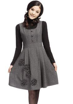 Fashion Winter Wool Dress or Skirt Stylish Dresses, Simple Dresses, Women's Fashion Dresses, Dress Outfits, Casual Dresses, Stylish Outfits, Dress Shoes, Woolen Dresses, Wool Dress