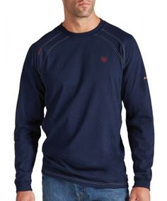 Ariat Fire-Resistant Navy Crew Long Sleeve