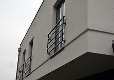 Balustrada na drzwi balkonowe – stal czarna malowana – Grodzisk Mazowiecki