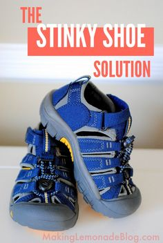 The Stinky Shoe Solution - shhhh. here's the secret to getting rid of bad odors with this all natural stinky shoe solution! Cleaning Recipes, Diy Cleaning Products, Cleaning Solutions, Cleaning Hacks, Cleaning Supplies, Cleaners Homemade, Diy Cleaners, Household Cleaners, Household Tips