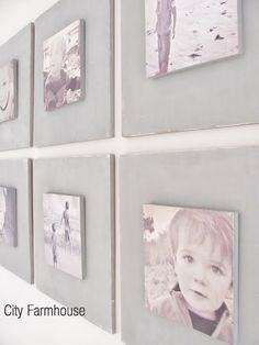 DIY Gallery Wall Tutorial - City Farmhouse This looks amazing! Pictures on wood! Fun! :O)
