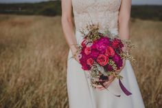 Pink & red wedding bouquet inspiration by goamoon.ru