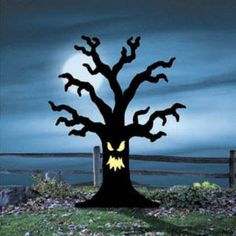"New** Halloween Lawn Art Yard Shadow/silhouette - ""spooky Tree"" 60"" X 48"""