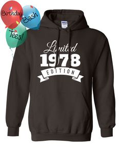 1978 Birthday Hoodie 38 Limited Edition by BirthdayBashTees