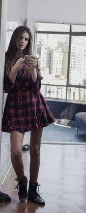 Camila Queiroz - Atriz - actriz - modelo - fashion model - Brasil - brasileira - brasileño - Brazil - Brazilian - telenovela - novela - tv - verdades secretas - secret truths - Angel - cabelo - hair - pelo - bonito - beautiful - hermosa - longo - comprido - long - largo - inspiration - inspiração - inspiración - estilo - style - look - vestido - dress - bota - boot