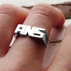 Personal Ring Sterling silver Made to order Sizes by aforfebre, $65.00