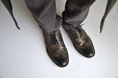 Leather Lace-up Mens Brogues Handmade_ M DESIGN by MDesignWorkshop