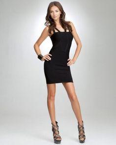 double strap bodycon dress