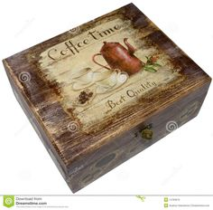 Box Decorated With Decoupage - Download From Over 36 Million High Quality Stock Photos, Images, Vectors. Sign up for FREE today. Image: 14763619